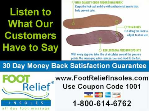 Foot Relief Insoles - The All Day Foot Massage Insoles ...