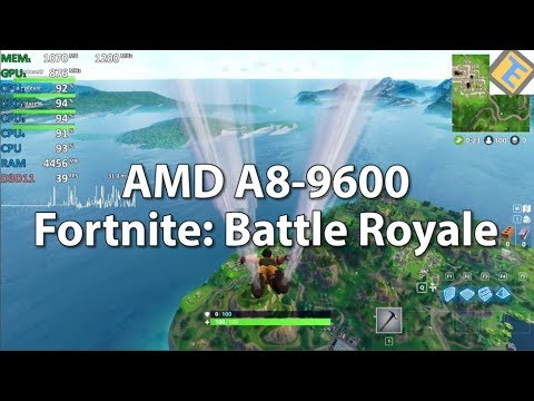 Fortnite: Battle Royale AMD A8-9600 R7 iGPU cpu@3.8Ghz. Gameplay benchmark Test