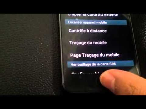 comment localiser samsung wave