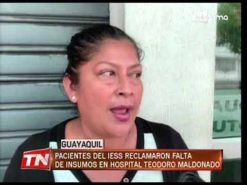 Pacientes del IESS reclamaron falta de insumos en hospital Teodoro Maldonado