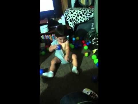 Xena-marie puttin balls in her bf joshuas onesie