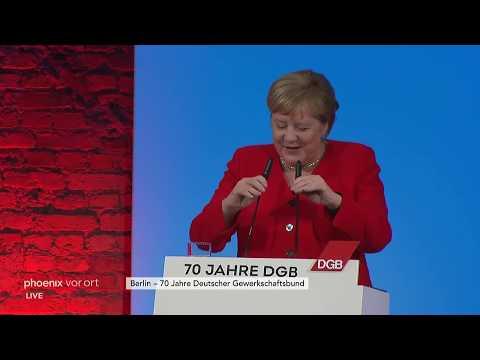 Festveranstaltung quot70 Jahre Deutscher Gewerkschaftsbundquot u.a. mit Angela Merkel