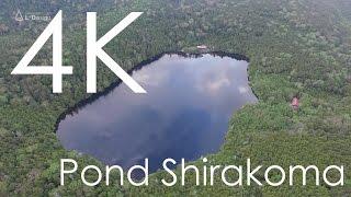 白駒池の空撮映像 八ヶ岳