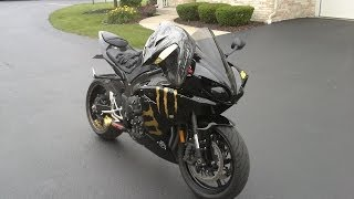 6. 2011 YAMAHA R1 Coffman exhaust walk around & flyby video true MotoGP sound