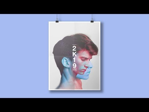 Stylish POSTER DESIGN Tutorial 2019