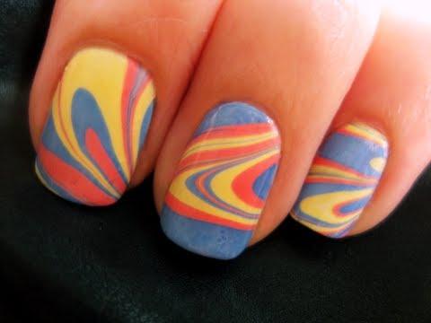 nuovo marble nail art