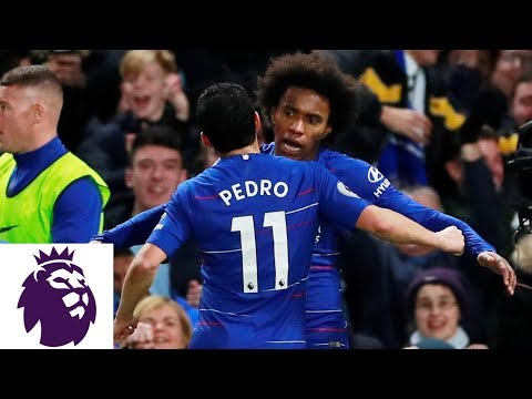 Video: Willian's curler puts Chelsea back in front | Premier League | NBC Sports