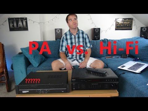 Unterschied zwischen PA und Hi Fi Verstärker Class AB Transistor