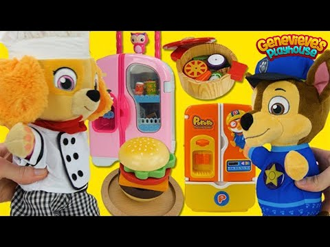 Paw Patrol Skye And Chase Cooking Contest Toy Food Video For Kids!