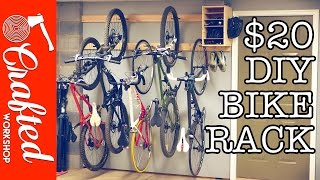 DIY Bike Rack for $20 / Bike Storage Stand & Cabinet for Garage | Crafted Workshop