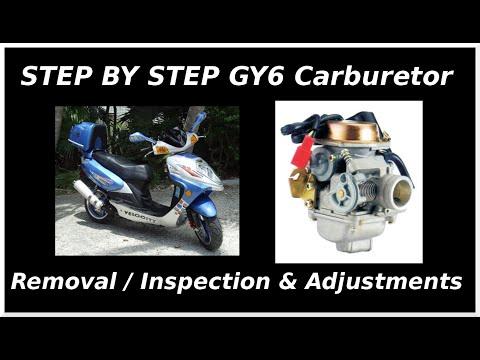 GY6 Carburetor Removal, Inspection & Adjustment(START TO FINISH)
