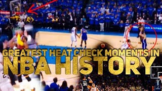 Video Greatest HEAT CHECK Moments in NBA History (DIDN'T MISS ANY) MP3, 3GP, MP4, WEBM, AVI, FLV September 2018
