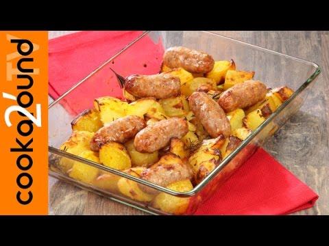 salsiccia e patate al forno - ricetta