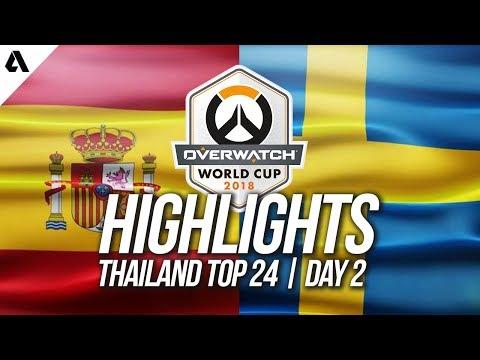 Spain vs Sweden | Overwatch World Cup 2018 Thailand Qualifier Day 2