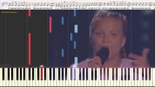 Тает лёд - Грибы (Поют дети) (Ноты и Видеоурок для фортепиано) (piano cover)