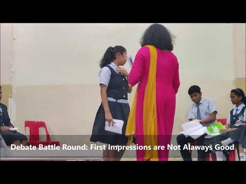 Debate Season 1 Episode 4 Battle Round: First Impressions Are Not Always the Best | Spicer School