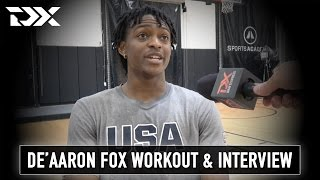 De'Aaron Fox NBA Pre-Draft Workout and Interview