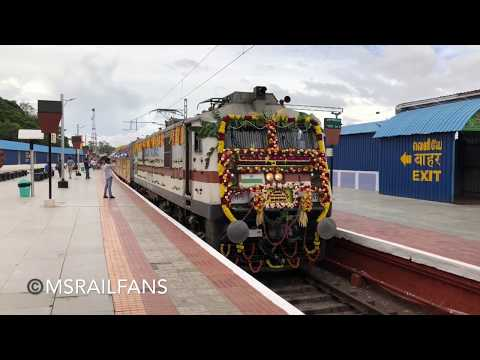 INDIA'S FIRST UDAY EXPRESS 22666 COIMBATORE - BANGLORE AC DOUBLE DECKER EXPRESS : INDIAN RAILWAYS