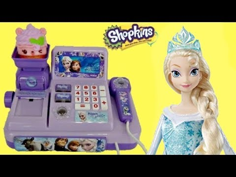 Frozen 2 Cash Register Money Counting Set Unboxing with Elsa and Anna!