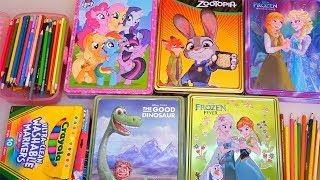 Speed Coloring Zootopia, Frozen Anna and Elsa, My Little Pony (MLP), and The Good Dinosaur | SWTAD