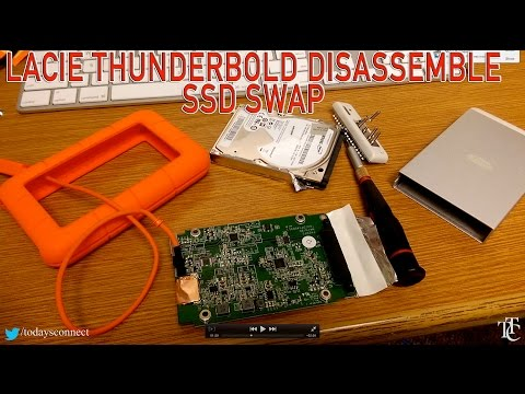 LACIE 2TB USB 3.0 Thunderbolt Drive DISASSEMBLE / SSD SWAP