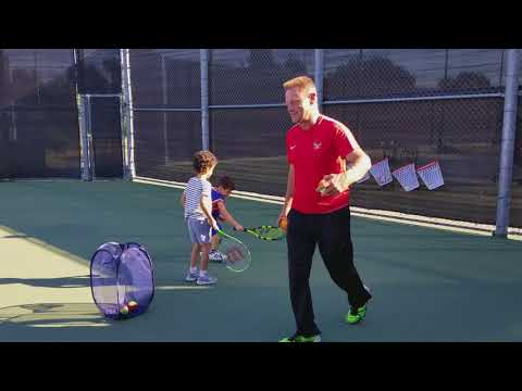 Jonah at a tennis class in Beverly hills 4.5 years old
