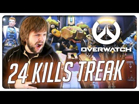 24 KILL STREAK!! - Overwatch (видео)