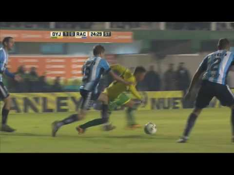 Gol de Bordagaray. Defensa 2 Racing 0. Fecha 15. Primera División 2016