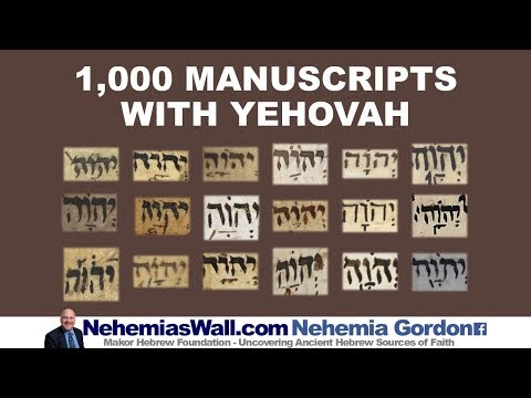 1,000 Manuscripts with Yehovah - NehemiasWall.com