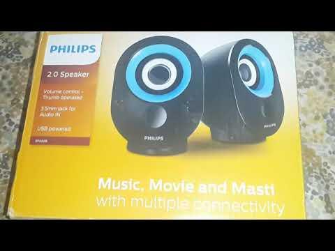 Philips 2.0 spa 50 laptop/desktop multimedia usb speaker review buy online lowest price