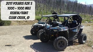 8. 2017 RZR S 1000 - 1000 Mile Review/Rant - Clear Creek, ID