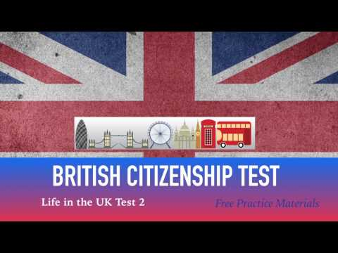 LIFE IN THE UK TEST 2017 - BRITISH Citizenship TEST (2 of 40)
