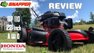 6. SNAPPER SP 110 22 inch AWD Honda Powered mower review