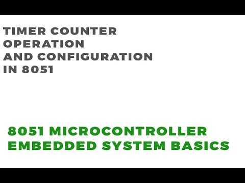 Timer- Counter Operation and Working in 8051 | Embedded System Tutorial