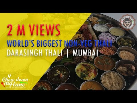 World's Biggest Non Veg Thali in Mumbai || Dara Singh Thaali || Masaledaar by Mini Punjab