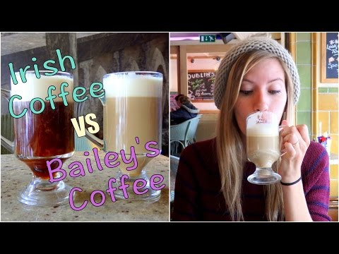 Irish Coffee versus Baileys Coffee taste test in Dublin
