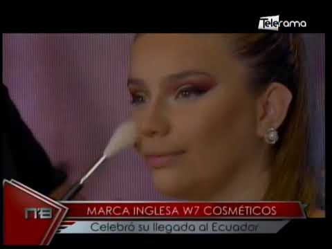 Marca inglesa W7 cosméticos celebra su llegada al Ecuador
