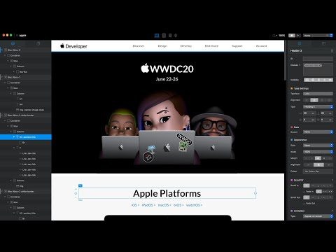 Rebuilding Apple's Website in Blocs app