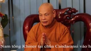Hòa thượng Chủ tịch Hội đồng Trị sự GHPGVN thăm Văn phòng Phật giáo Nam tông Khmer