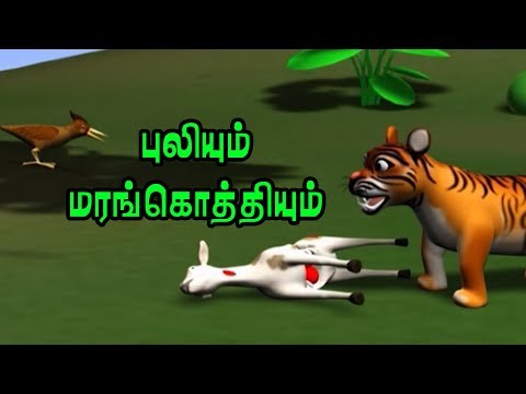 Tiger and Woodpecker | Animal Stories for Kids in Tamil | Moral Stories & Bedtime Stories