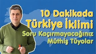 Bu Videoda,*Türkiyede Basınç*Türkiyede Rüzgarlar*Türkiyede Nem*Türkiyede Yağış konularını bulacaksınız.Özellikle yağışın mevsimlere göre dağılışını dikkatle izlemenizi tavsiye ediyorum.Coğrafyanın Fatihi ile Sınavları Fethetmeye Devam.