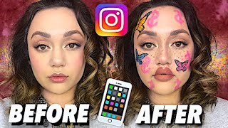CRAZY INSTAGRAM FILTERS USING MAKEUP! by Kat Sketch