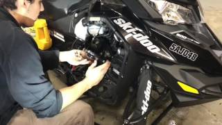 5. How to change your chain case oil in a 600-800 etec skidoo