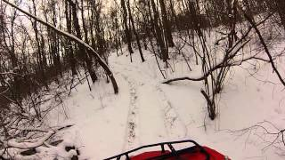 10. king quad 400 winter trails and hill climbs