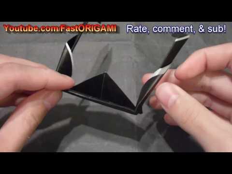 How to make Easy Sunglass Origami Gafas de Sol サングラス折り紙折り方 太阳镜折紙
