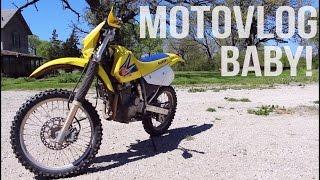 4. MOTOVLOG | SUMMER RIDING |  200 KICKS JUST TO START IT! | SUZUKI DRZ 250