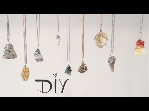 ❥ DIY Wire Wrapped Pendant : 3 Ways!
