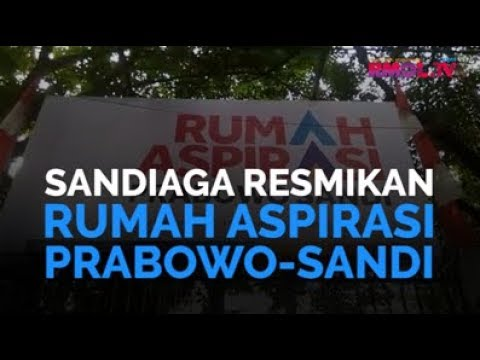 Sandiaga Resmikan Rumah Aspirasi Prabowo-Sandi
