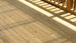 How to Clean a Treated Pine Deck