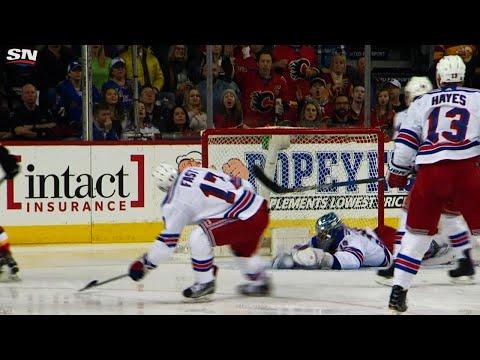 Video: Rangers score after Lundqvist's ridiculous blocker save